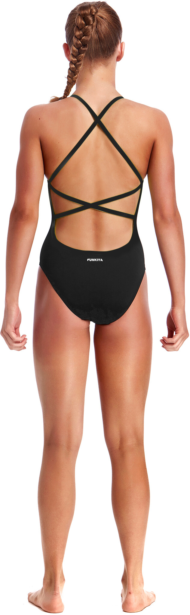 7ee94010c Funkita Strapped In One Piece Swimsuit Girls still black solid at ...